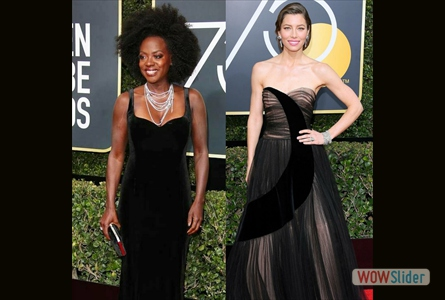 Golden Globes' Red Carpet was lit...BLACK! | #TimesUp!