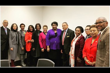 Ebony: Congressional-Black-Caucus with Stacey-Abrams