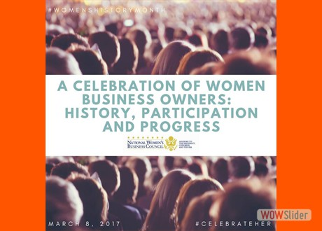 National Women's Business Council celebrates women business owners, history and progress